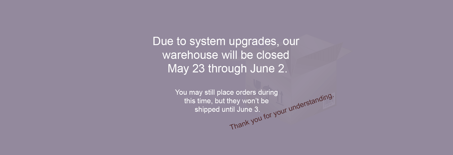 warehouse closed